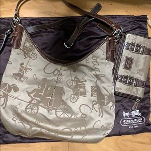 Coach Hobo bag and wallet 2010